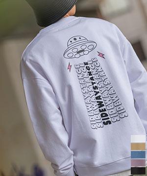 41024アブダクション牛刺繍トレーナー